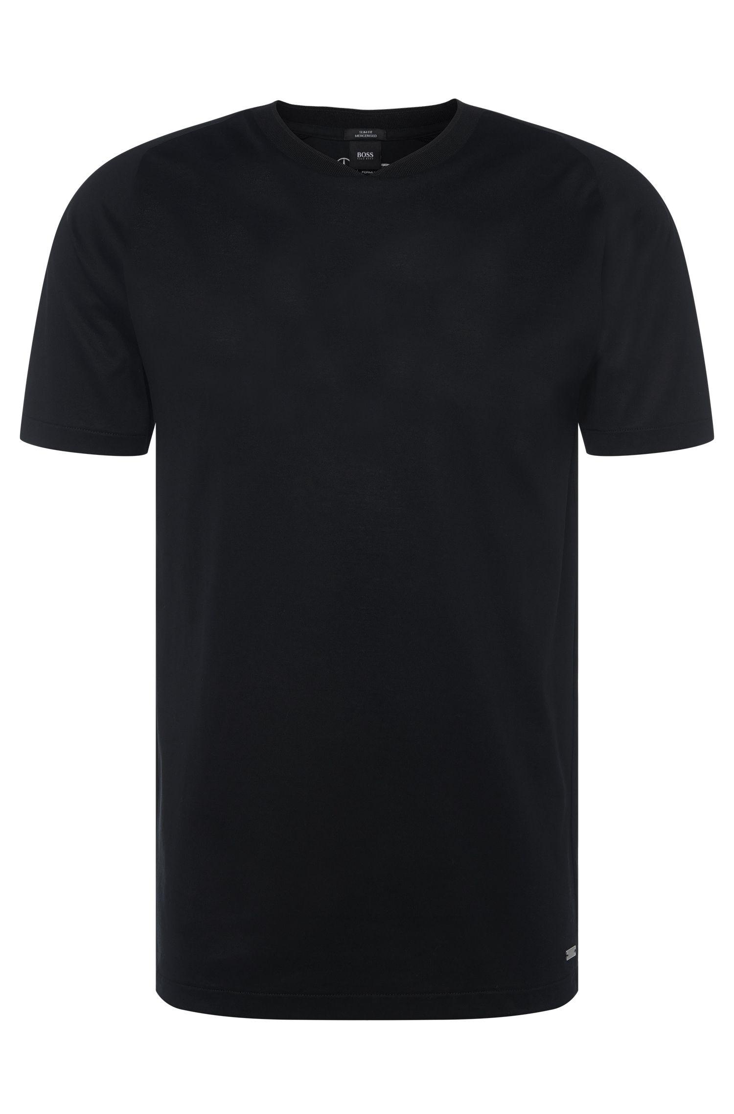 T-shirt slim fit in cotone in tinta unita: 'Tessler 40' dalla collezione Mercedes-Benz
