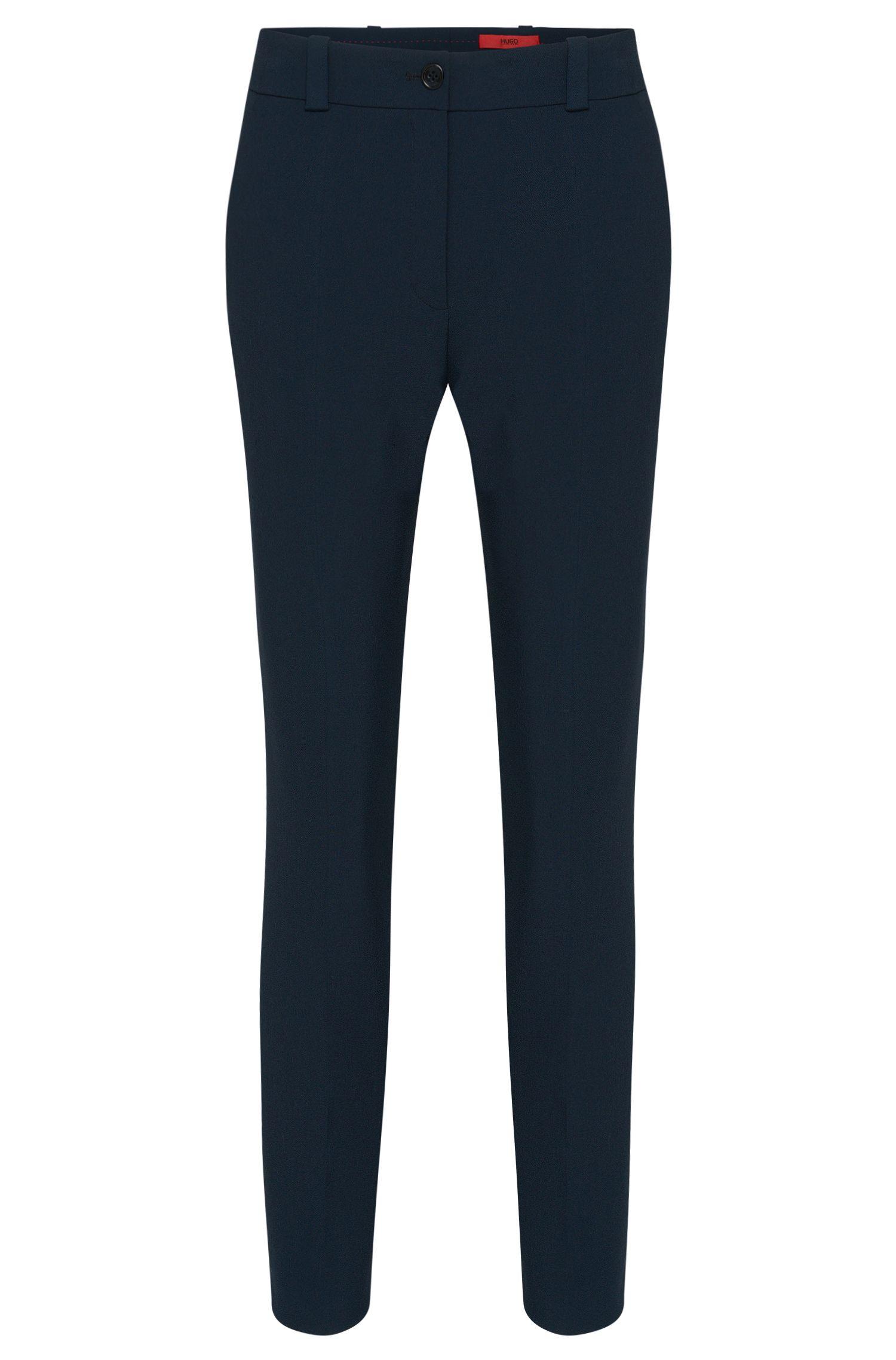 Slim-Fit Hose aus zweiseitigem Material-Mix