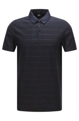 Regular-fit polo shirt in cotton with contrast collar: 'Pack 08', Dark Blue