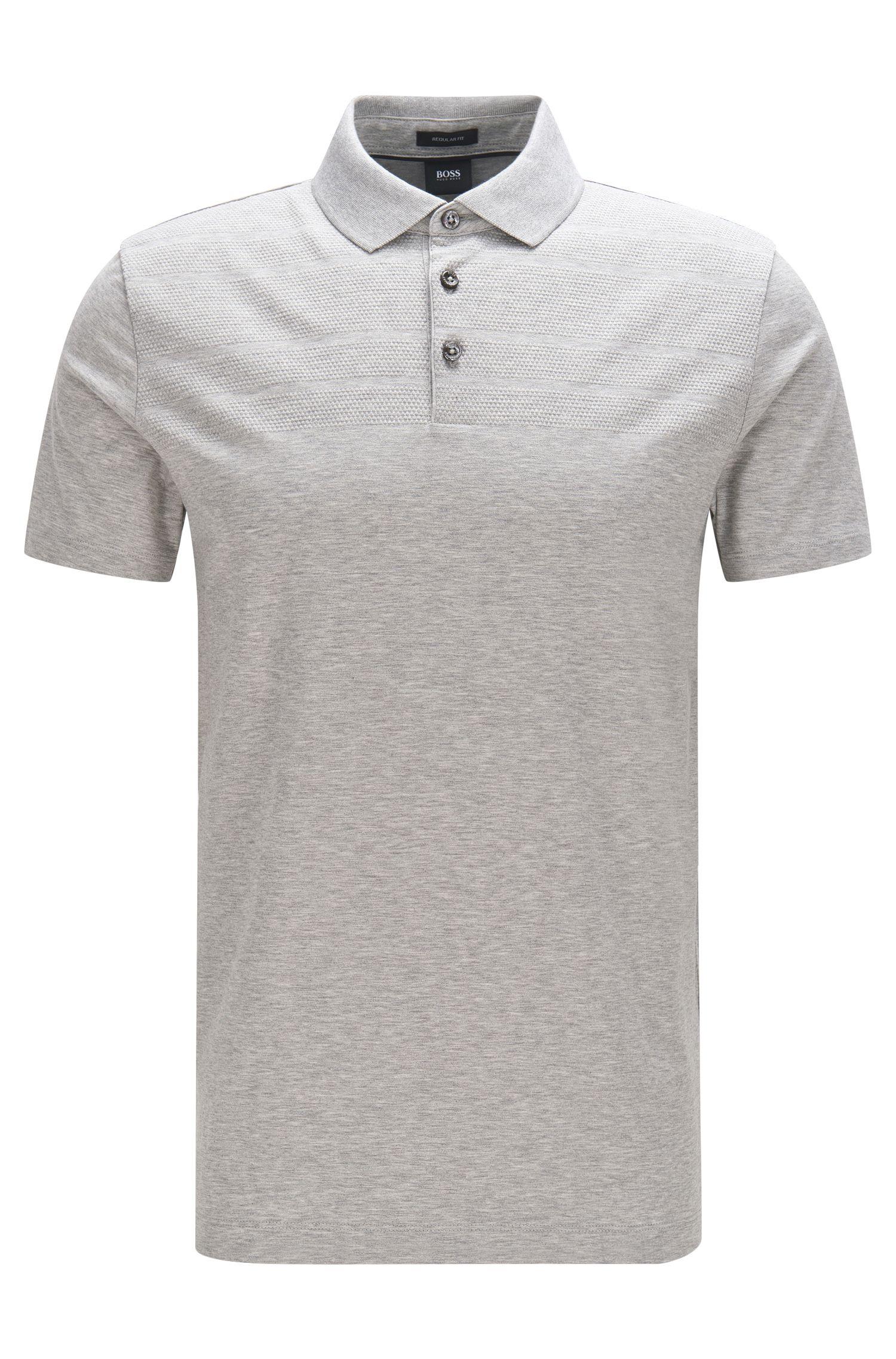 Meliertes Regular-Fit Poloshirt aus Baumwolle: 'Pack 07'