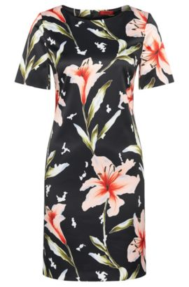 Fitted dress with floral pattern: 'Kones', Patterned