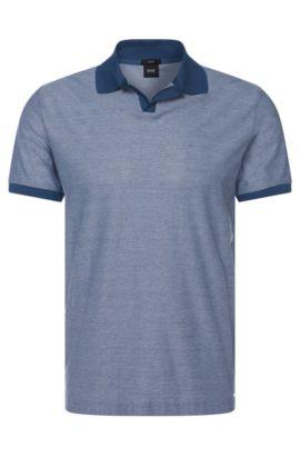 Regular-fit poloshirt van katoen met fijn dessin: 'Philippson 10', Lichtblauw