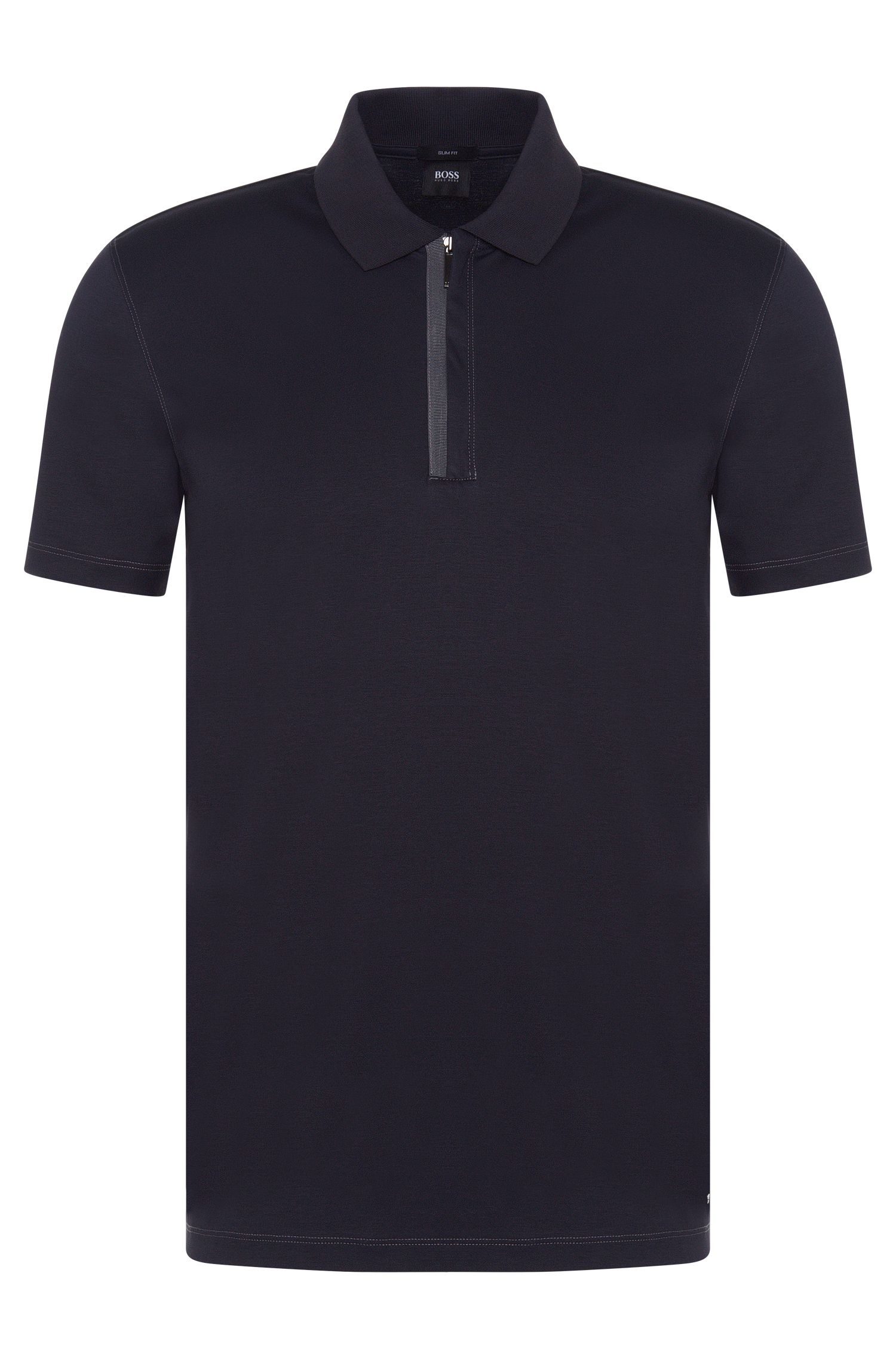 Polo Slim Fit en coton avec zip : « Plater 03 »