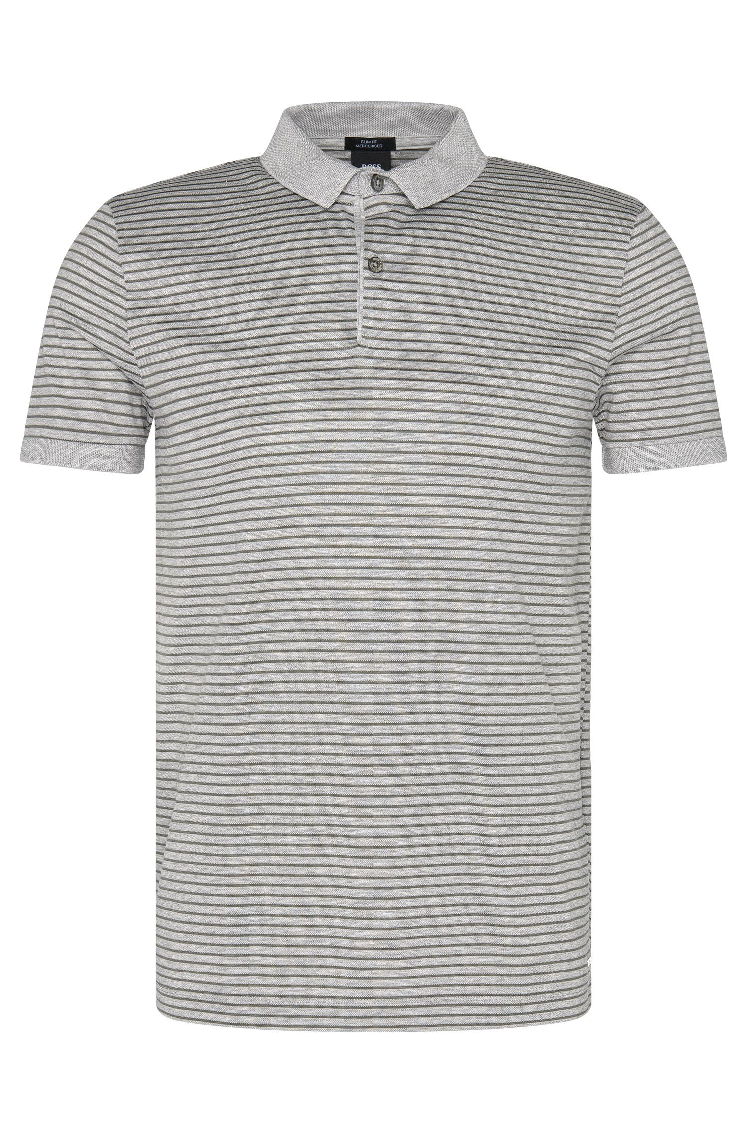 Polo Slim Fit en coton au design bicolore : « Penrose 11 »