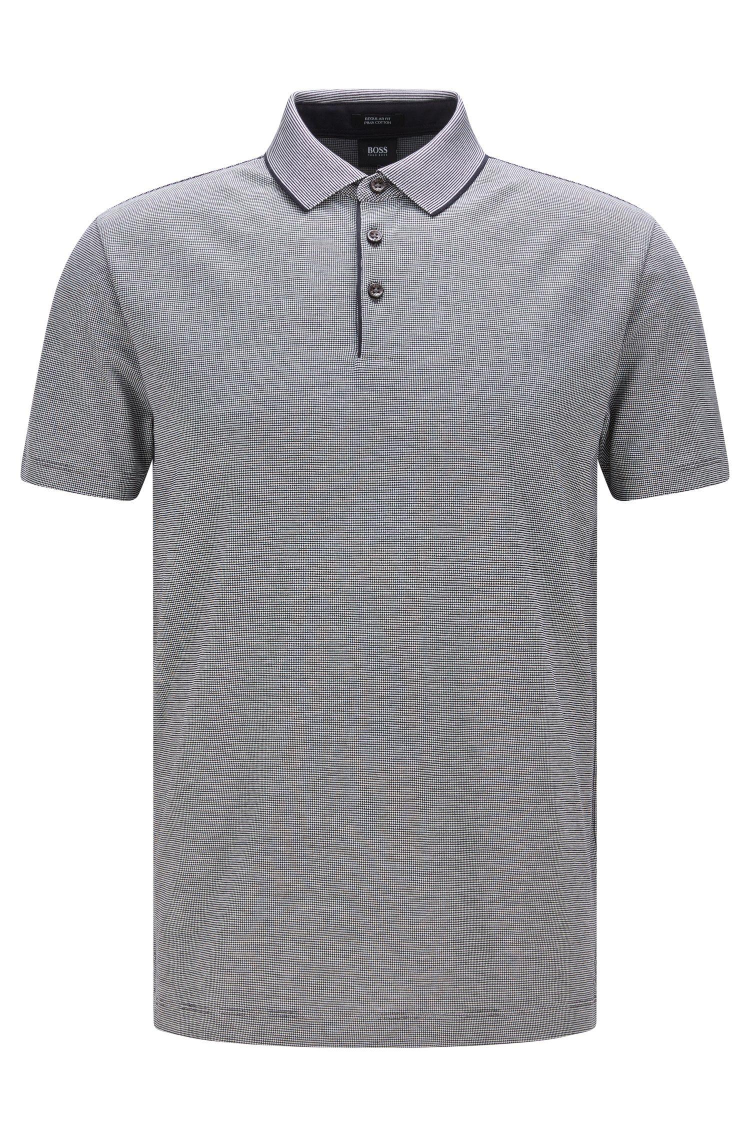 Fein kariertes Regular-Fit Poloshirt aus Pima-Baumwolle: 'Pack 09'