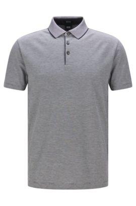 Fein kariertes Regular-Fit Poloshirt aus Pima-Baumwolle: 'Pack 09', Dunkelblau