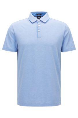 Polo regular fit con elegantes cuadros en algodón Pima: 'Pack 09', Azul