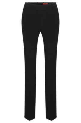 Gerade geschnittene Hose mit Bügelfalten: 'Halune', Schwarz