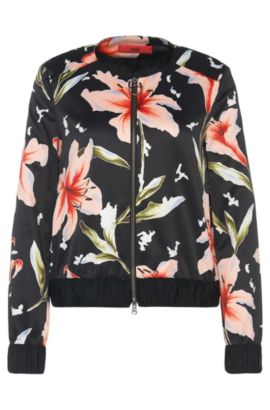 Jacket with floral pattern: 'Aitana', Patterned