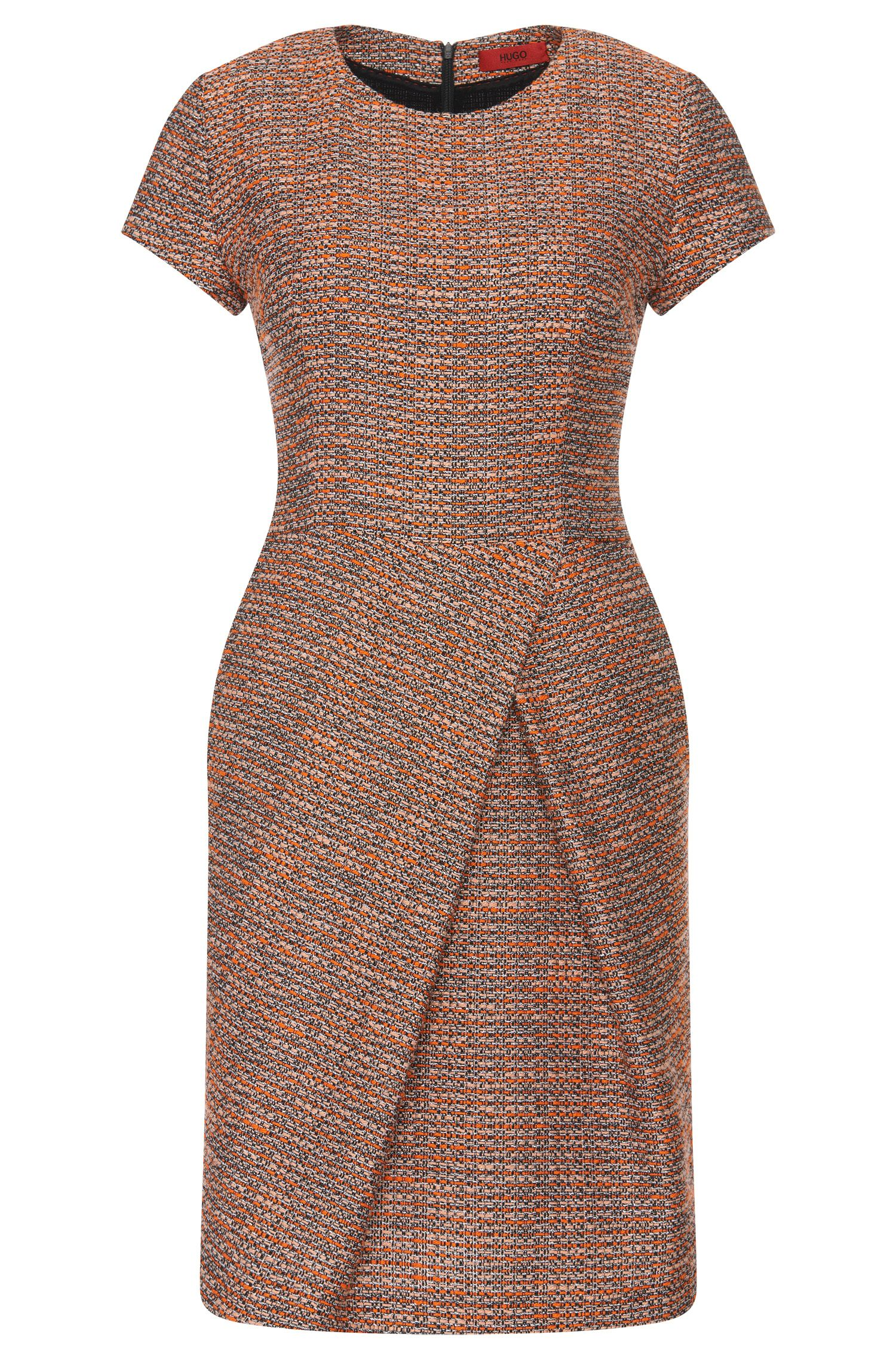 Dress in a bouclé-look cotton blend: 'Kilayla'