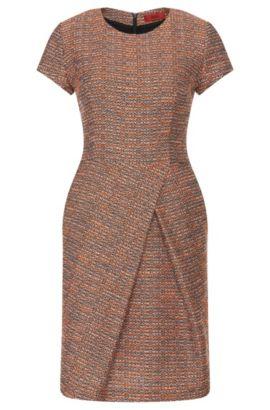 Vestido en mezcla de algodón con acabado bouclé: 'Kilayla', Rojo claro