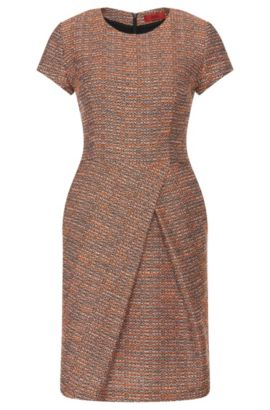 Dress in a bouclé-look cotton blend: 'Kilayla', Light Red