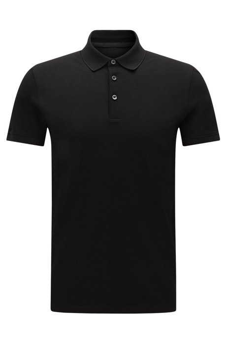 Slim-fit cotton polo shirt: 'Penrose 09-WS'