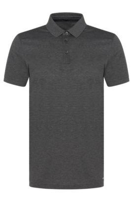 Slim-Fit Poloshirt aus Baumwolle: 'Penrose 09-WS', Dunkelgrau