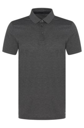 Slim-fit cotton polo shirt: 'Penrose 09-WS', Grey