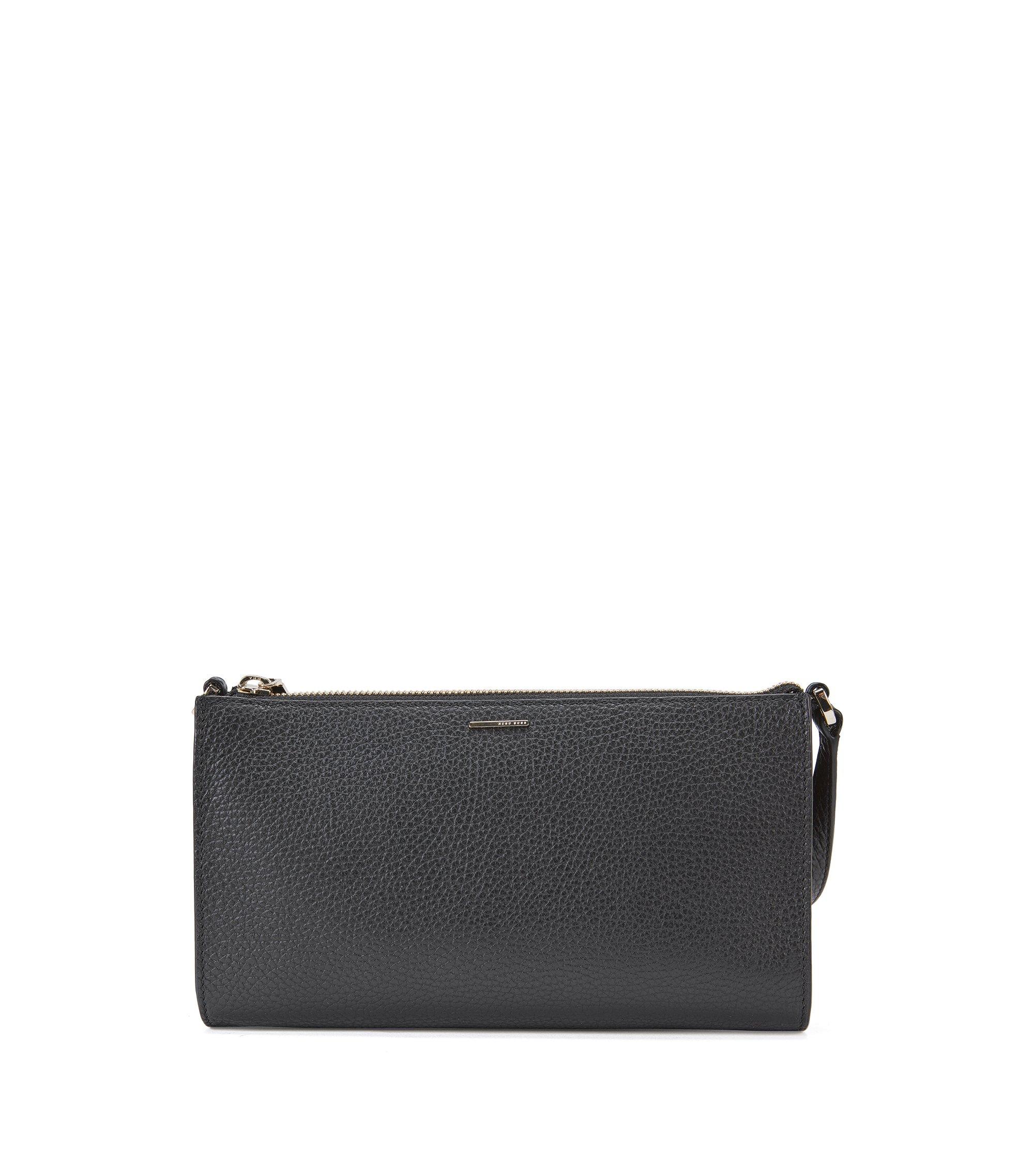 Plain mini bag in textured leather: 'Staple Mini Bag-A', Black