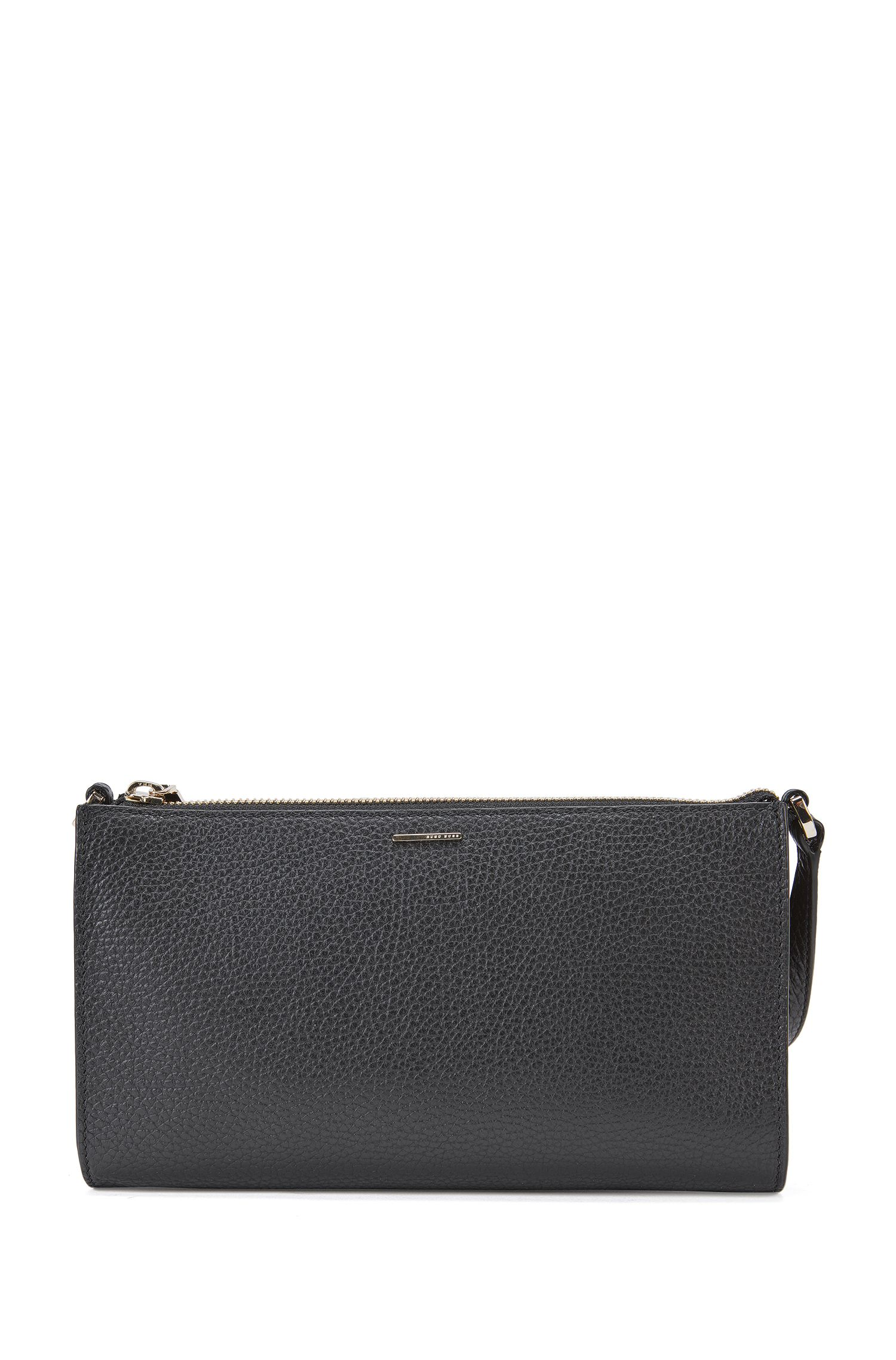 Plain mini bag in textured leather: 'Staple Mini Bag-A'