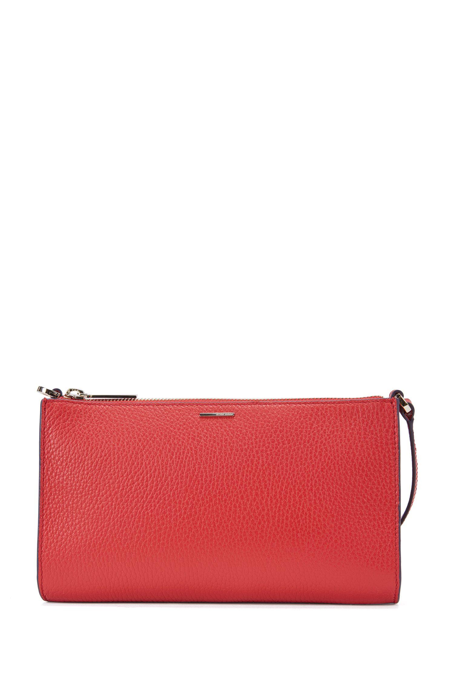 Unifarbene Mini Bag aus strukturiertem Leder: 'Staple Mini Bag-A'