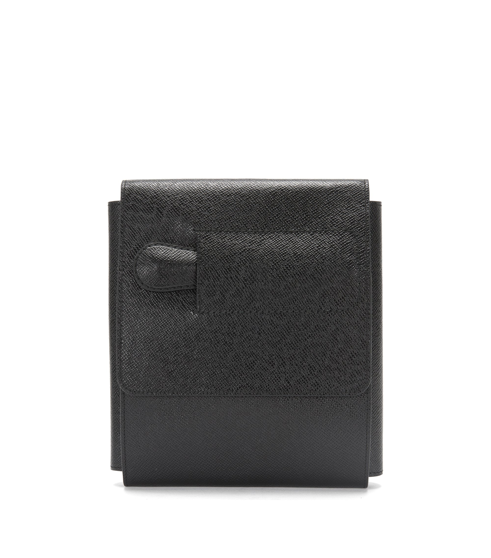 Shoe-care organiser in palmellato calf leather, Black