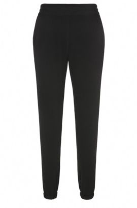 Relaxed-fit joggers in stretch material blend: 'Selise', Black