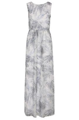 Maxi-abito con motivo floreale in materiali misti: 'Afiorella', A disegni