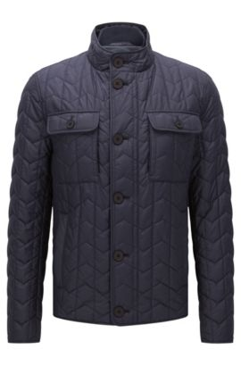 Quilted jacket with lightweight lining: 'Camano', Dark Blue