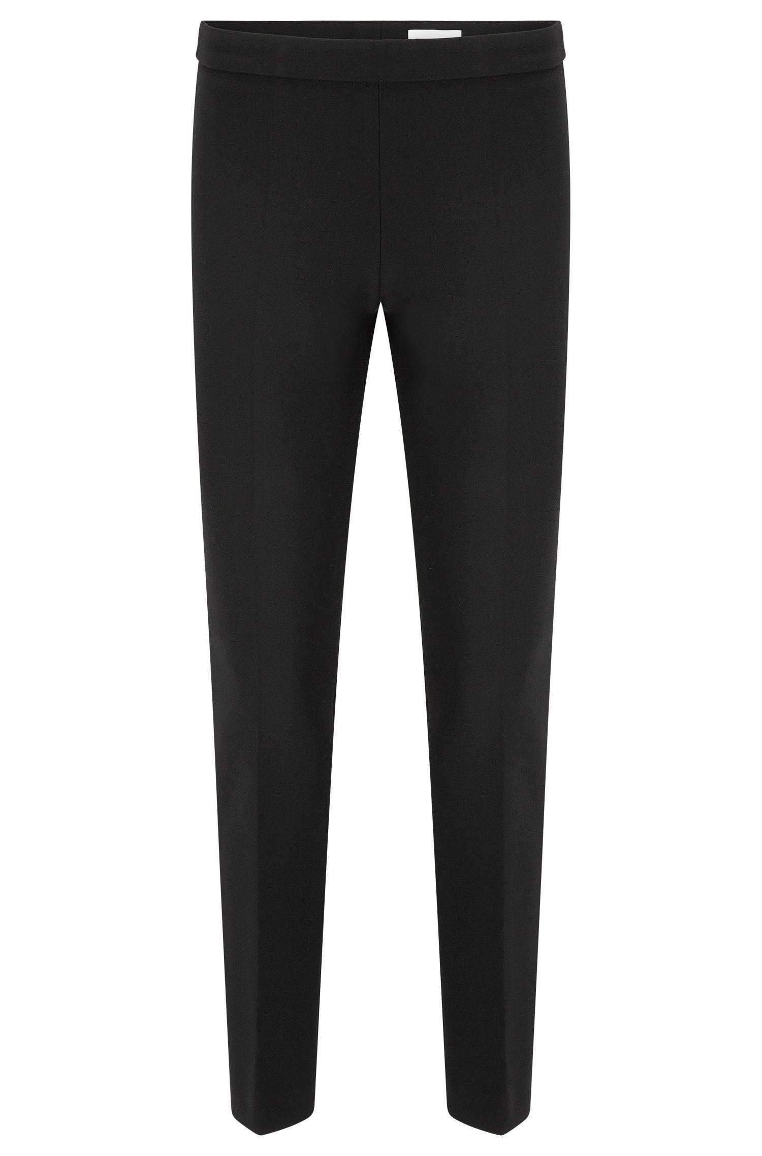 Pantalon Regular Fit en mélange de matières extensible à teneur en viscose et coton:  «Tiluna_SideZip»