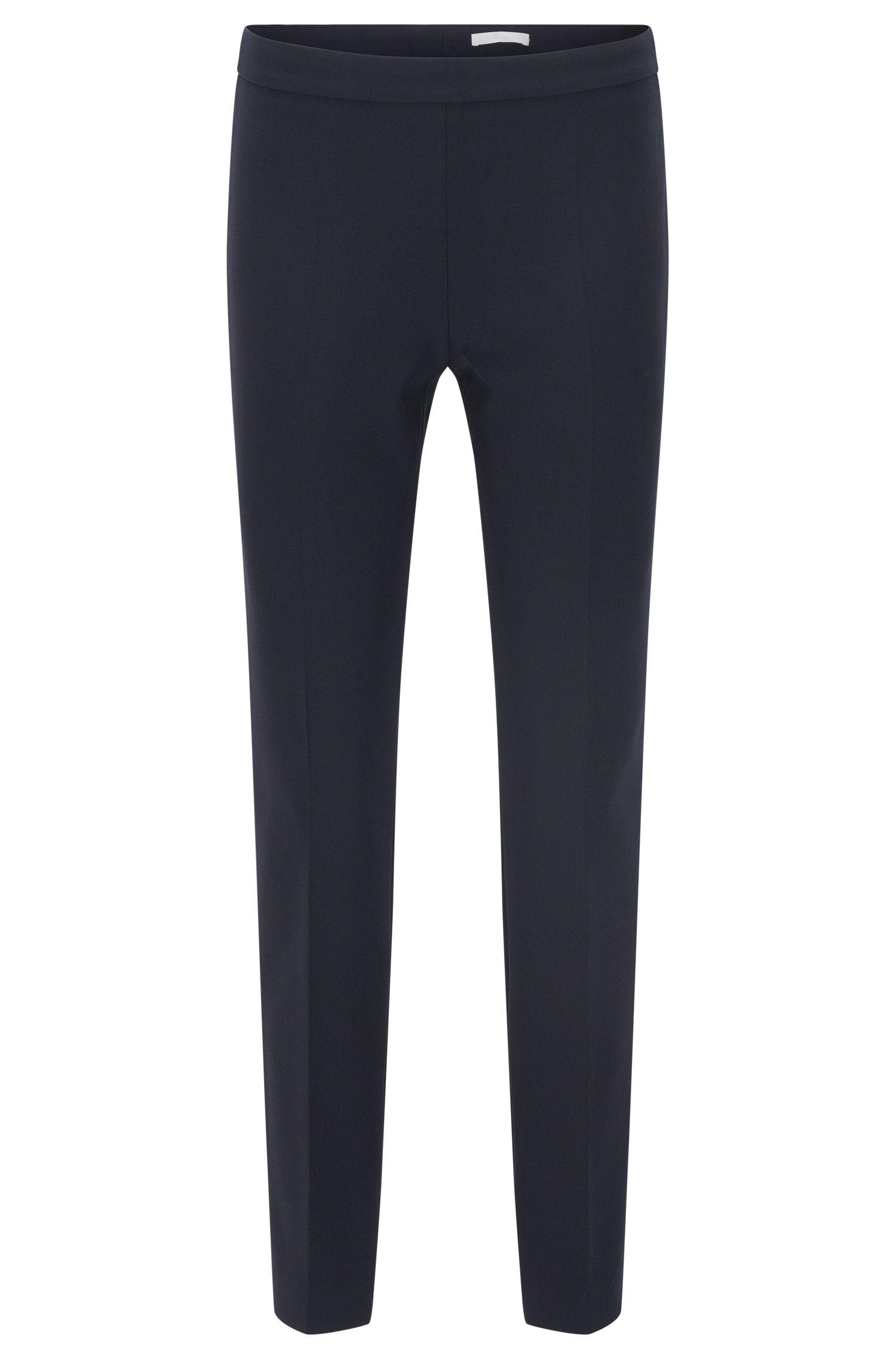 Regular-Fit Hose aus elastischem Material-Mix mit Viskose und Baumwolle: 'Tiluna_SideZip'