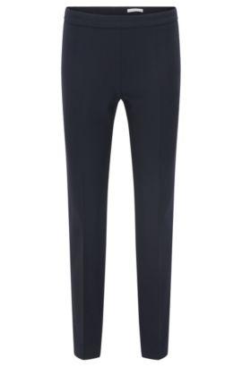 Regular-Fit Hose aus elastischem Material-Mix mit Viskose und Baumwolle: 'Tiluna_SideZip', Hellblau