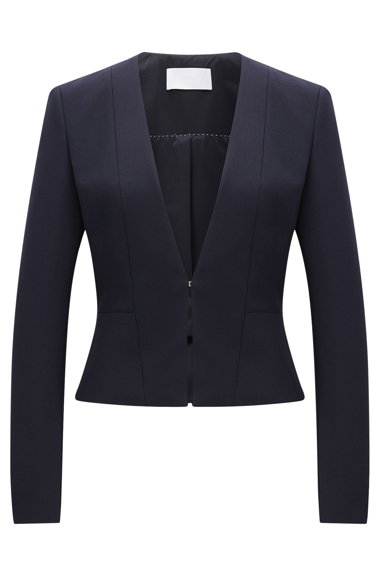Fitted blazer in a stretchy material blend with viscose and cotton: 'Jemida'