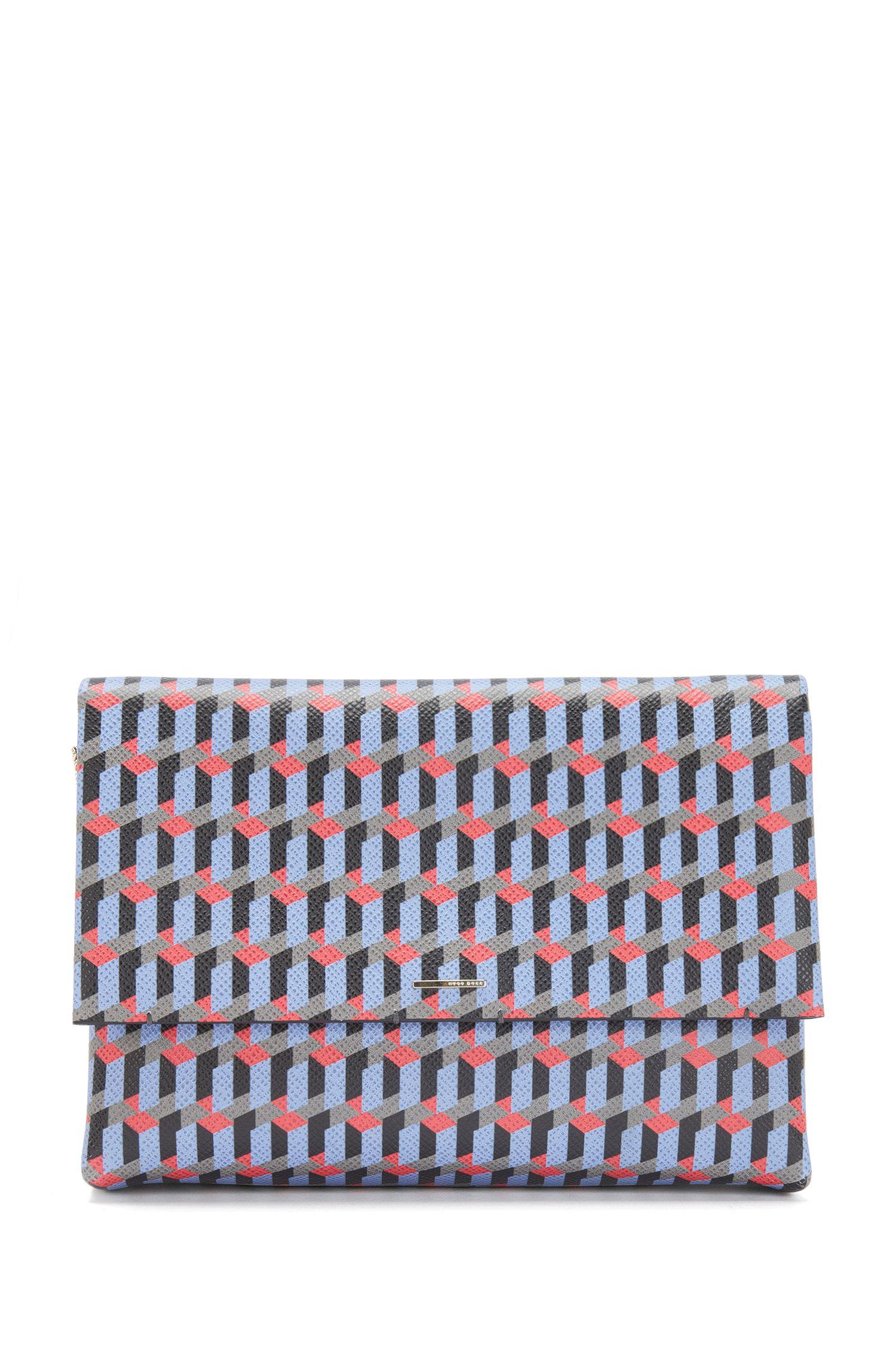 Gemusterte Handtasche aus Leder mit abnehmbarem Schulterriemen: 'Luxury S. Mini FP'