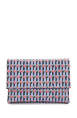 Handtas van leer met dessin met afneembare schouderriem: 'Luxury S. Mini FP', Bedrukt