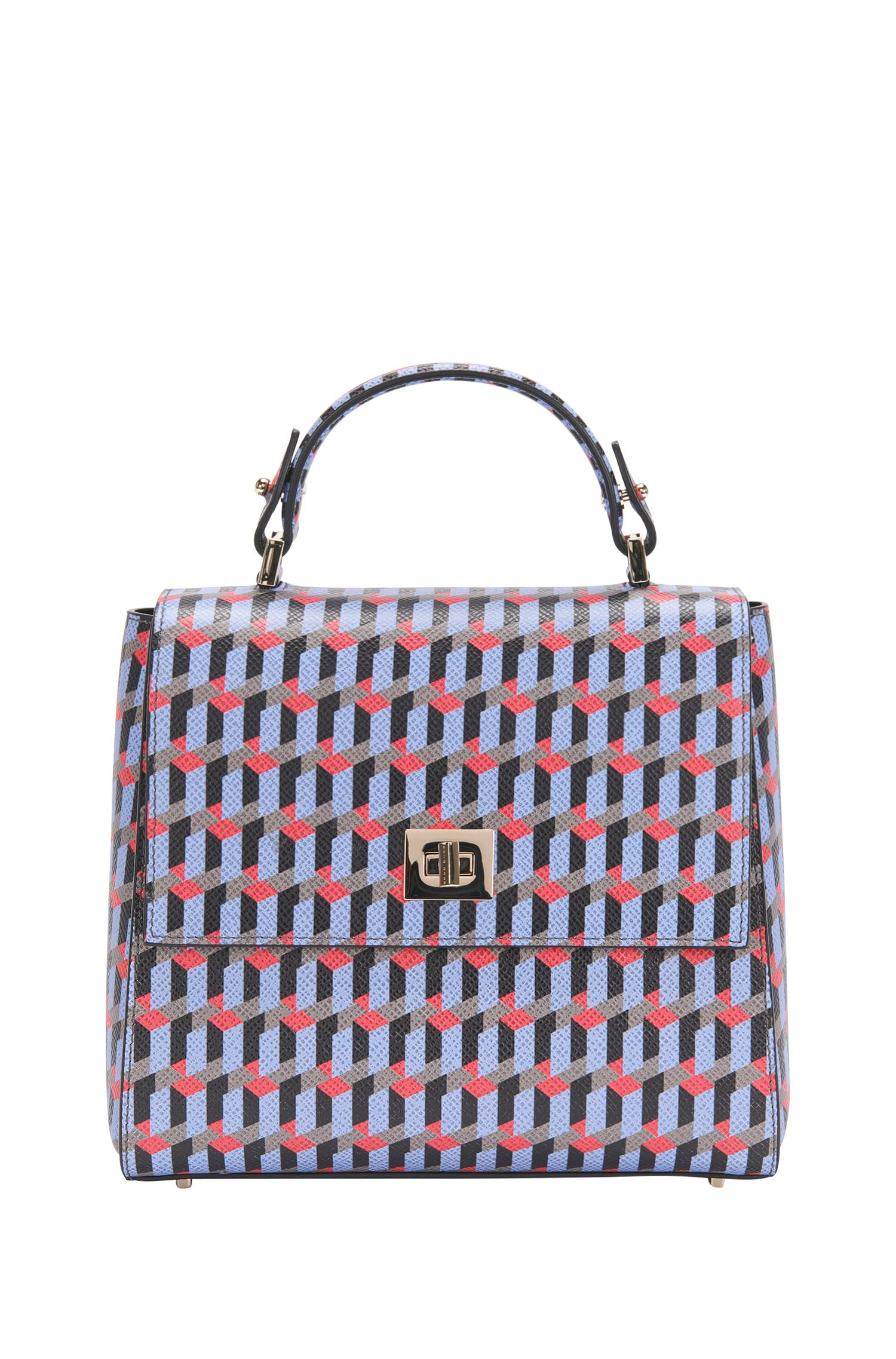 Patterned BOSS Bespoke handbag in leather