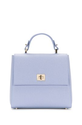 Small-format BOSS Bespoke handbag in leather, Light Purple