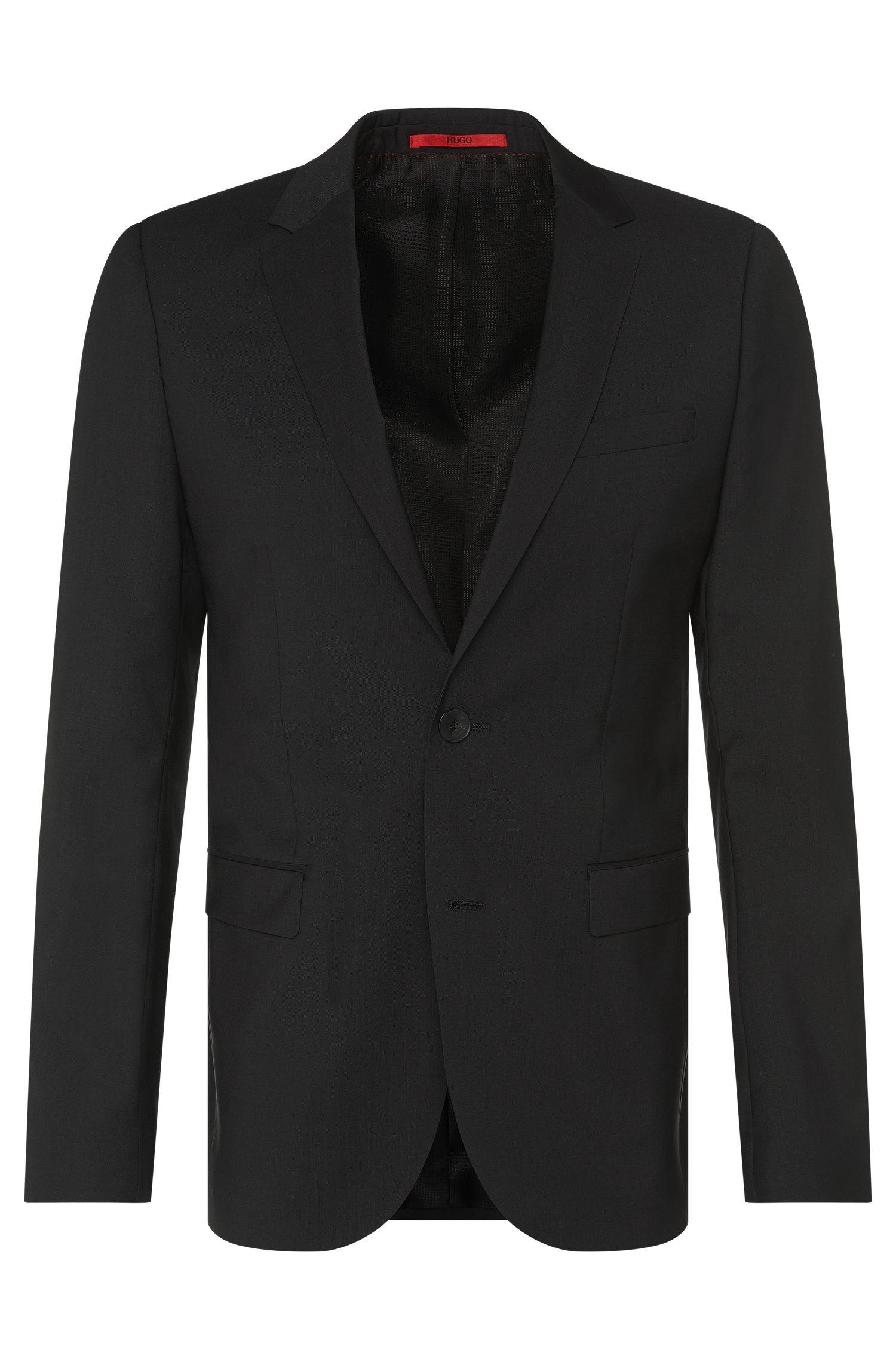 Veste de costume Slim Fit finement structurée en pure laine vierge: «AldonS»