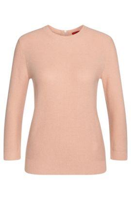 Pullover aus Baumwoll-Mix mit Viskose und Seide: 'Satella', Hellrosa