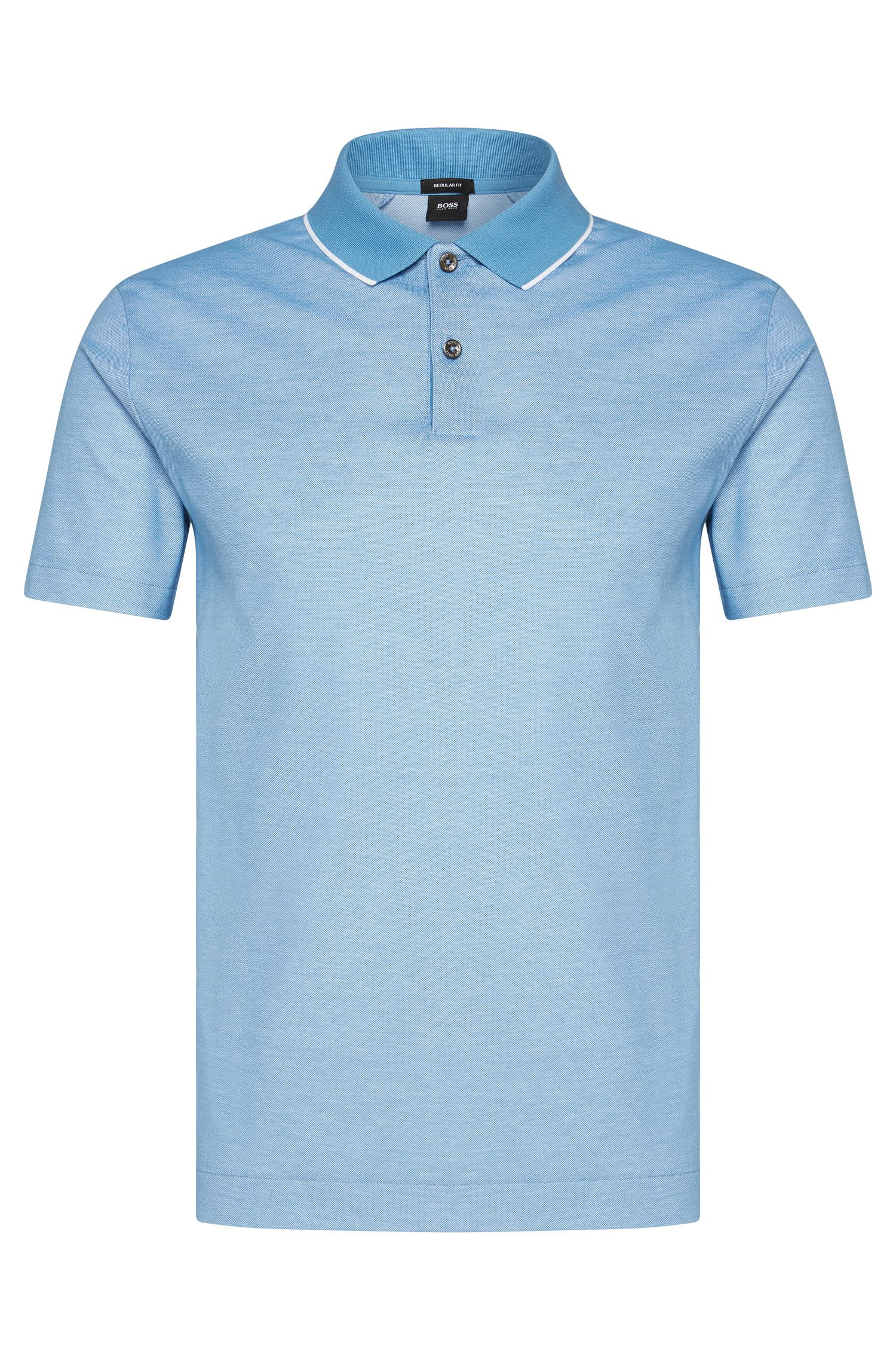 Polo Regular Fit en coton avec col de couleur contrastante : « Piket 06 »