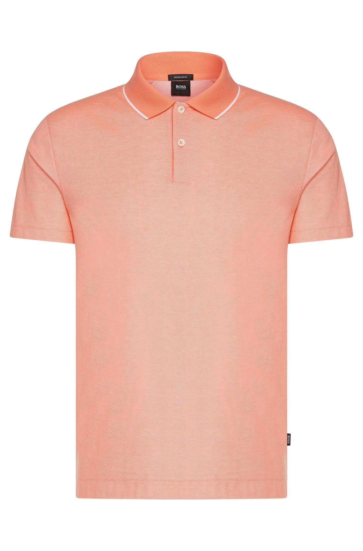 Polo regular fit in cotone con colletto a contrasto: 'Piket 06'