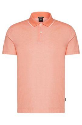 Polo regular fit in cotone con colletto a contrasto: 'Piket 06', Rosso chiaro