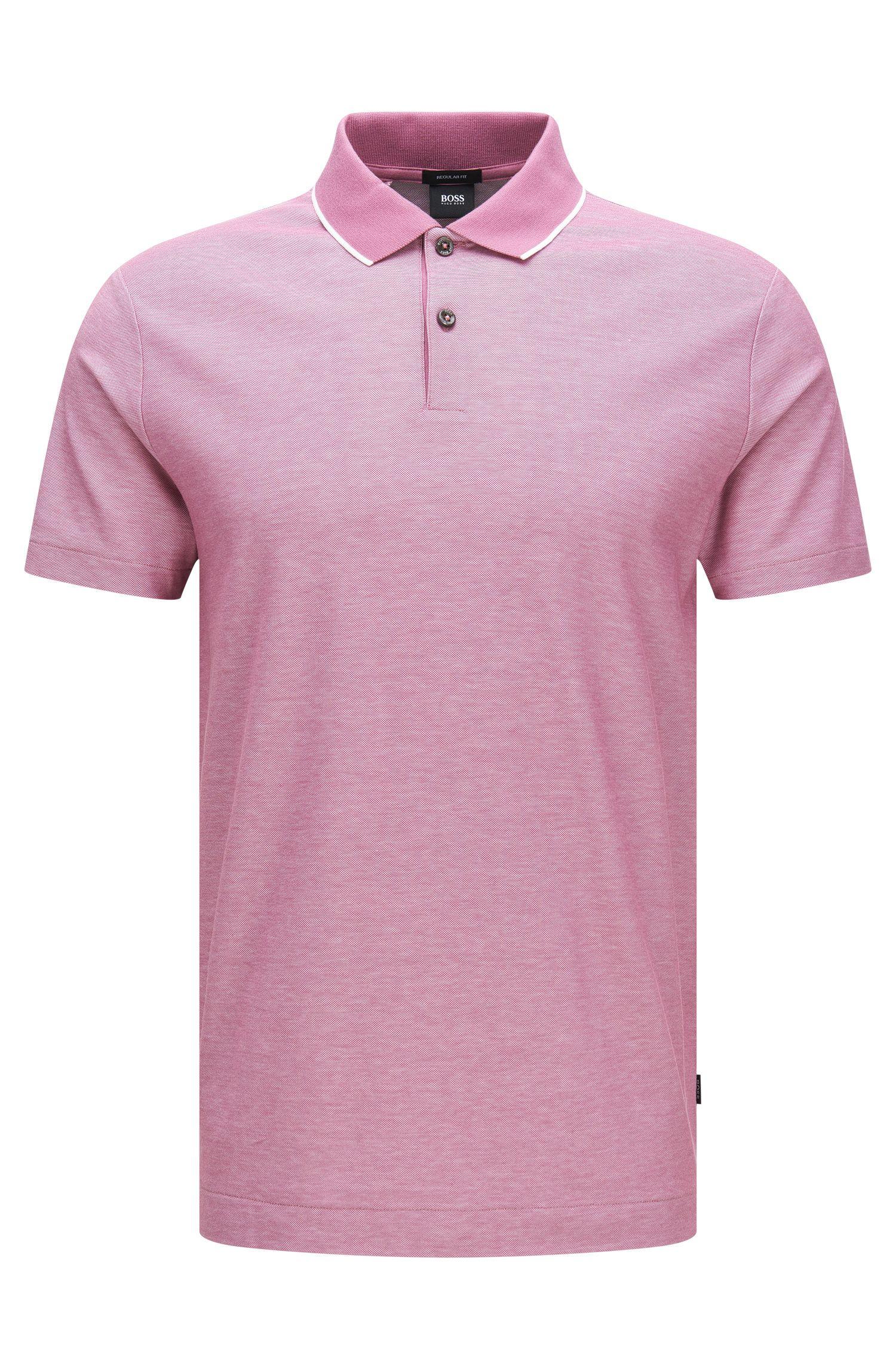 Polo regular fit en algodón con cuello contrastado: 'Piket 06'