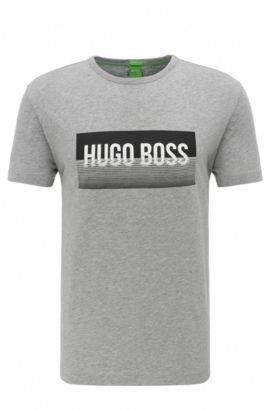 T-shirt en coton Regular Fit à imprimé: «Tee1», Gris chiné