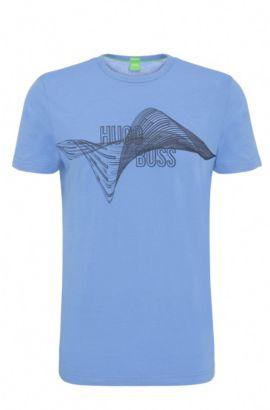 Regular-Fit T-Shirt aus Baumwolle mit Print: ´Tee 2`, Blau