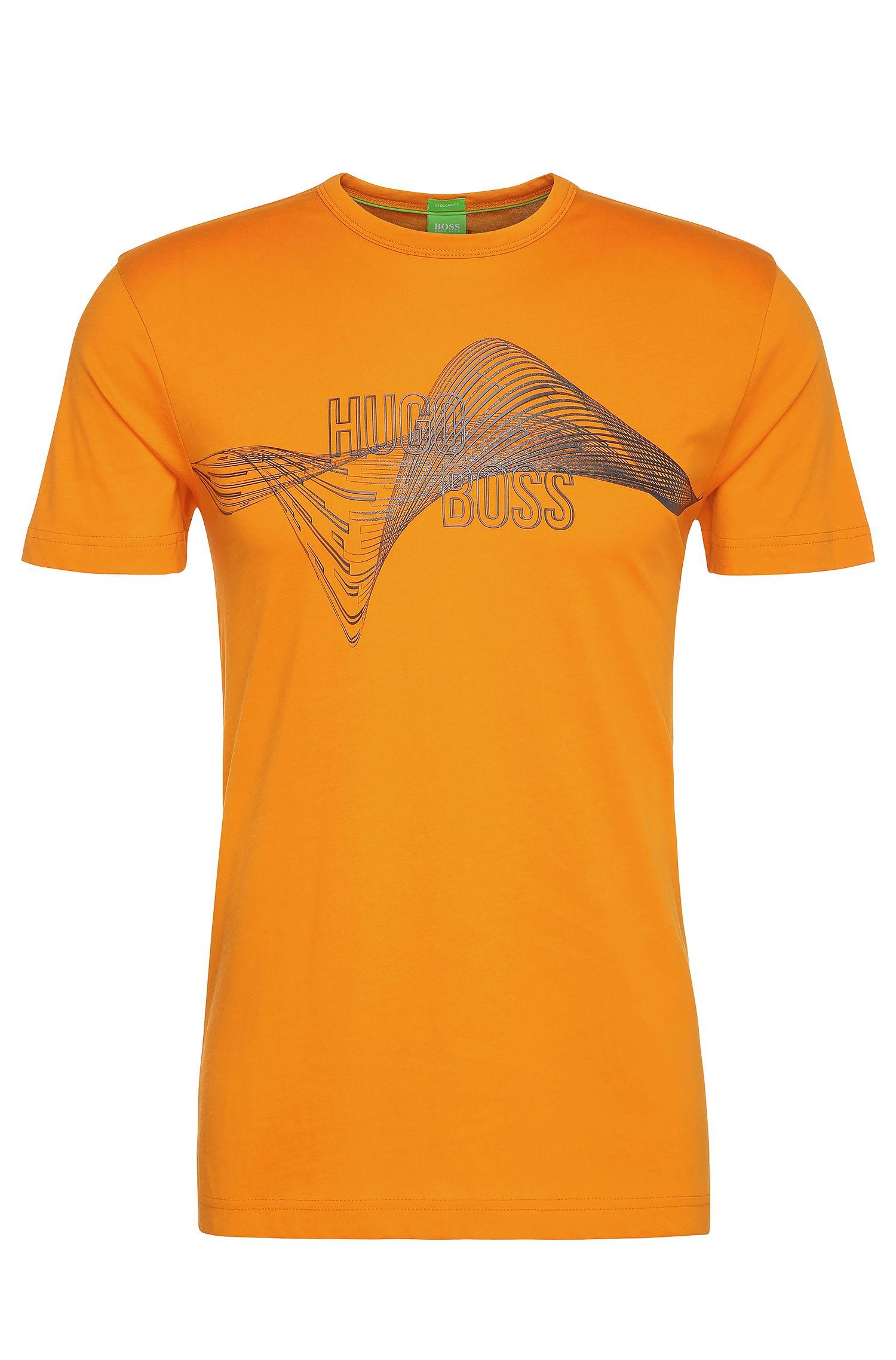 Camiseta regular fit en algodón con estampado: 'Tee 2'