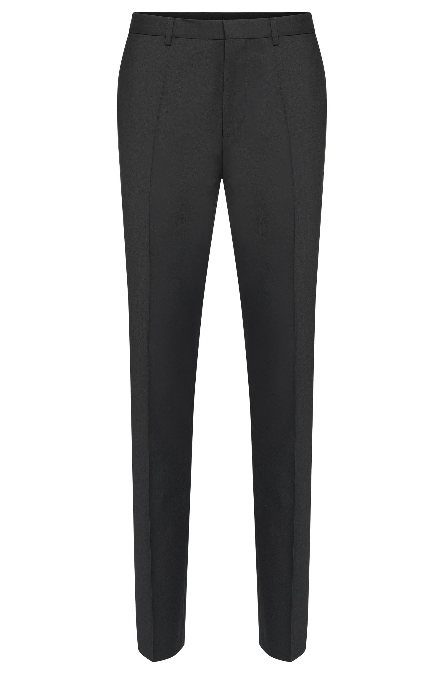 Plain-coloured slim-fit trousers in new wool: 'HartleyS'