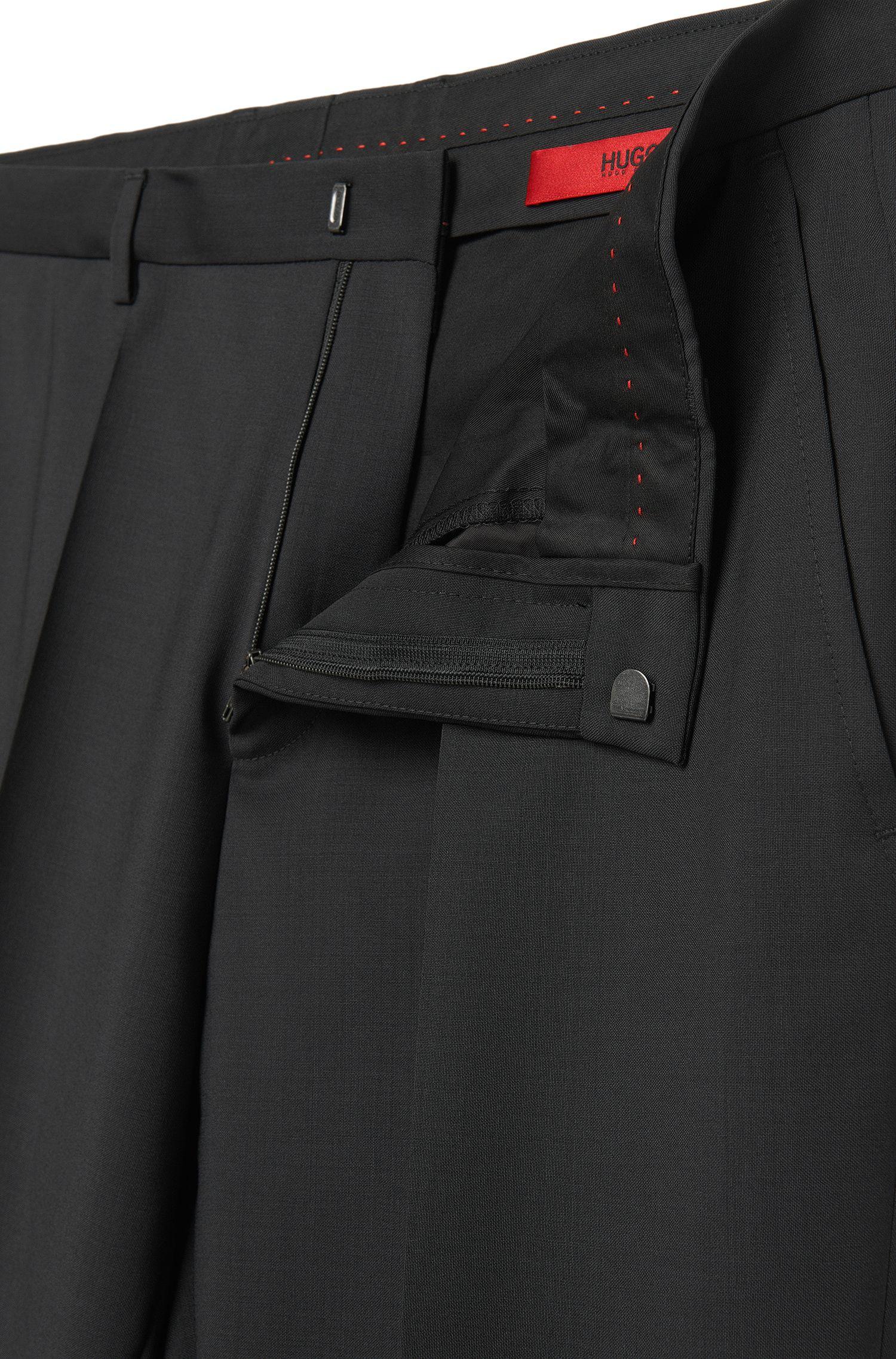 Effen, slim-fit broek van scheerwol: 'HartleyS'