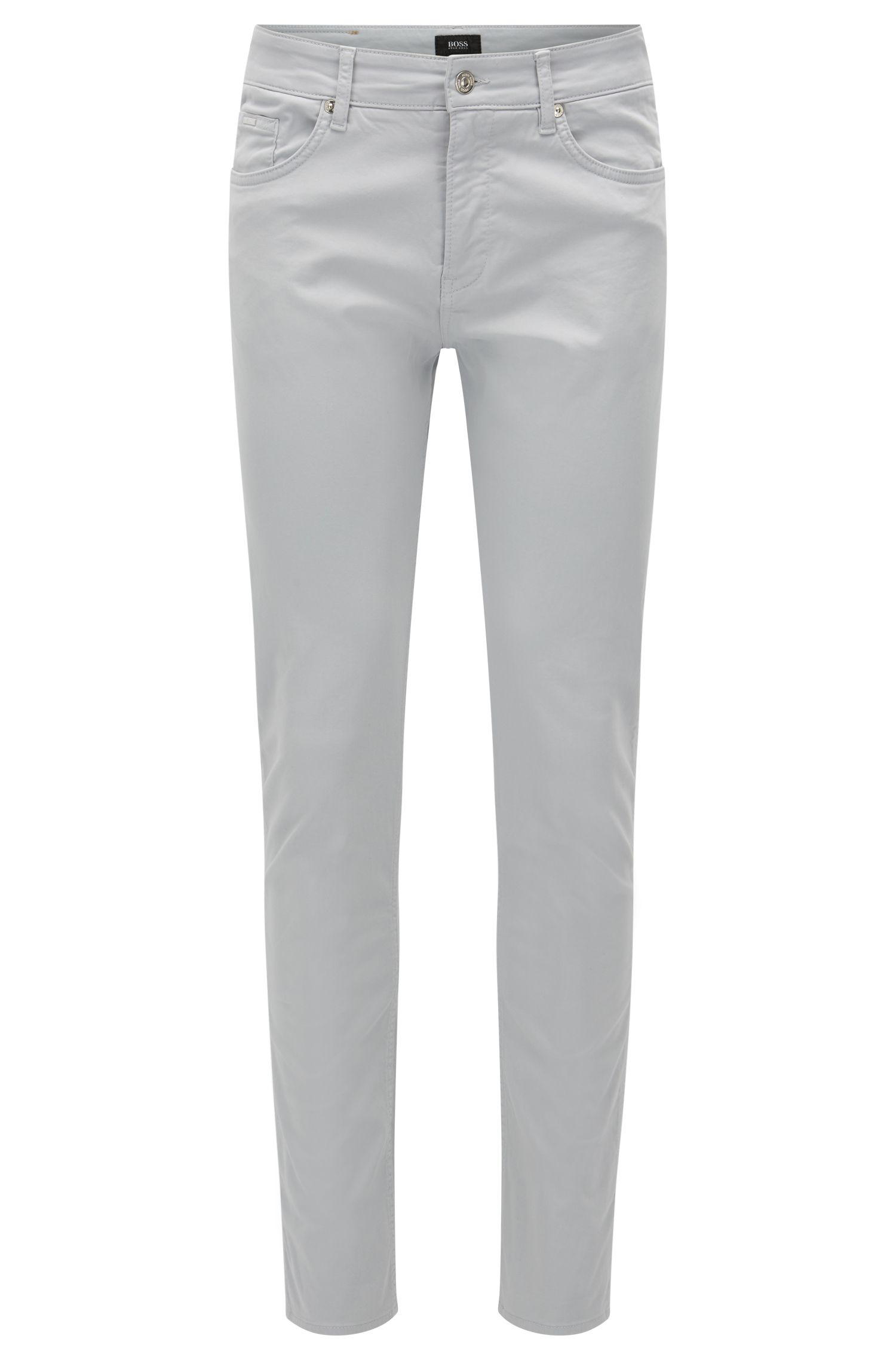 Slim-fit jeans van satijnen stretchdenim
