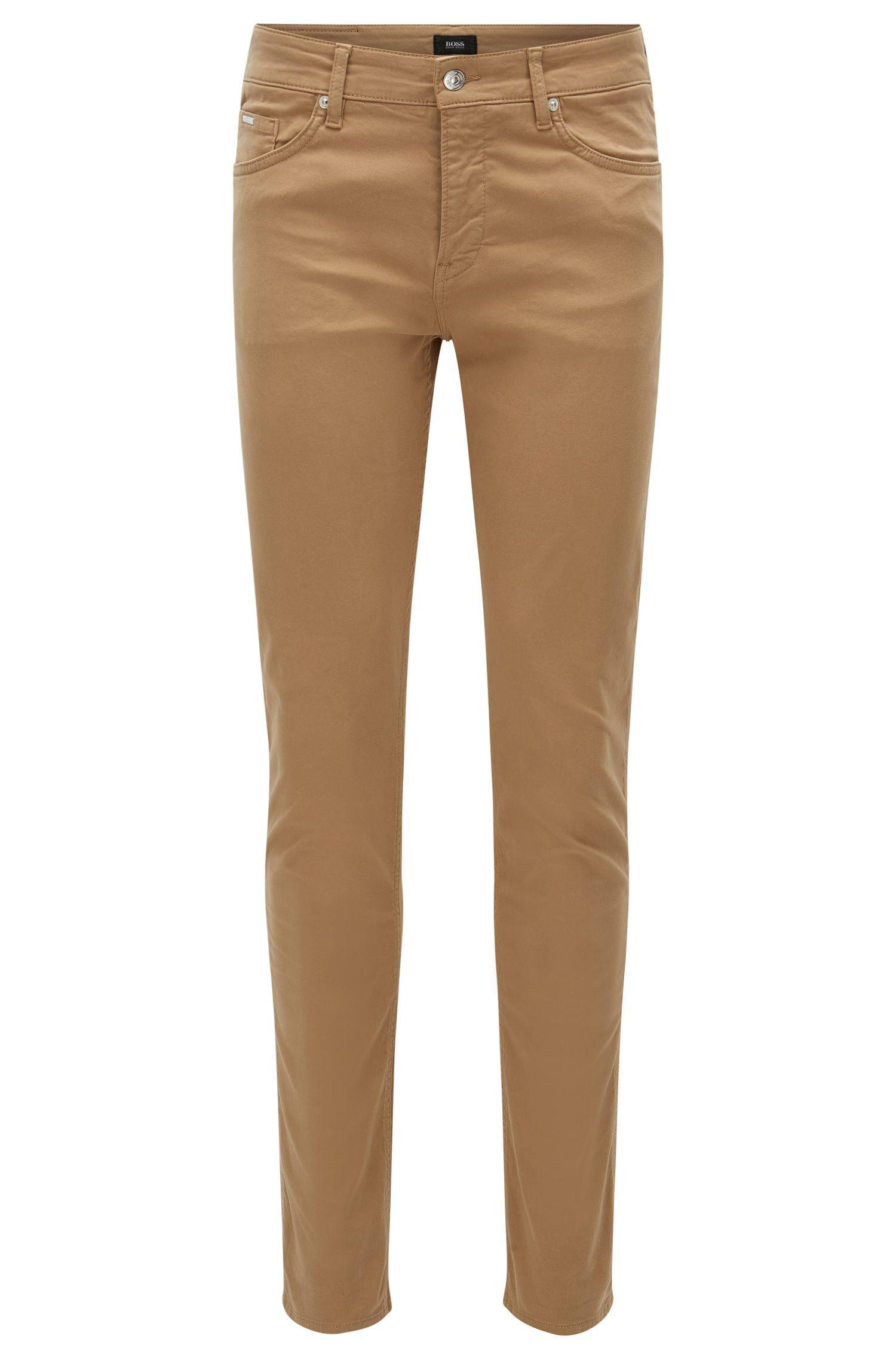 Jeans Slim Fit en denim stretch effet satin