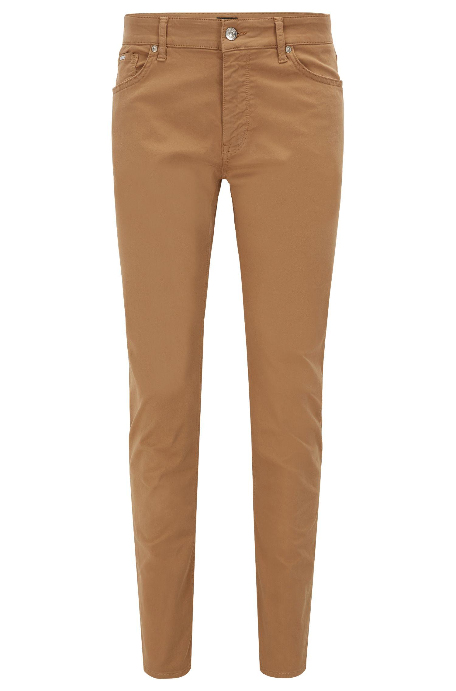 Regular-Fit Jeans aus glänzendem Stretch-Denim