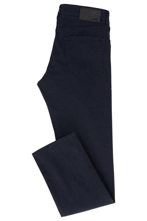 Hugo Boss - Regular-Fit Jeans aus schimmerndem Stretch-Denim - 3