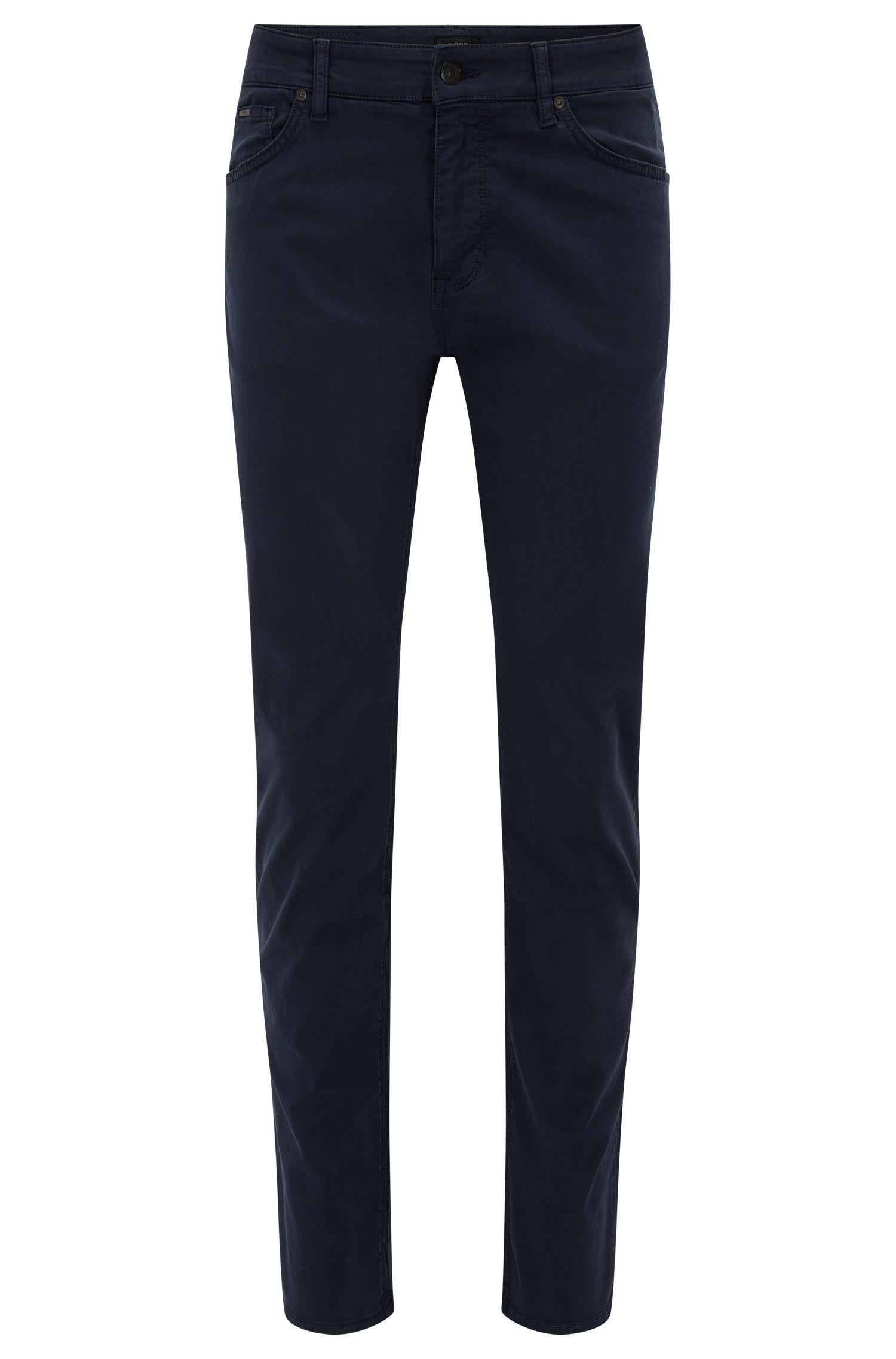 Regular-fit jeans van satijnen stretchdenim